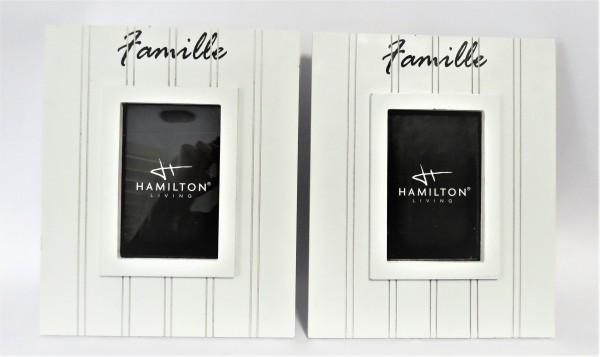 """2 x Hamilton Bilderrahmen aus Holz mit Aufschrift """"Famille"""""""