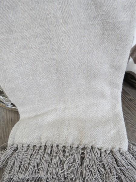 Decke Plaid Sofadecke Riviera Maison Cortina Soft Grey Throw 170X130