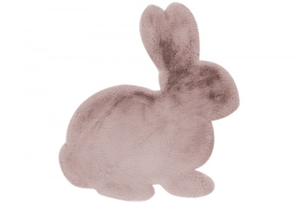 Kinder Teppich Hase Fell Ostern Rosa / Pink 80 x 90 cm me gusta