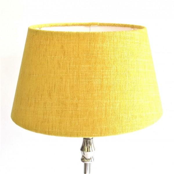 Lampenschirm Gelb Stoff Halbhoch Tischlampe Colmore E27 25x19x14 cm