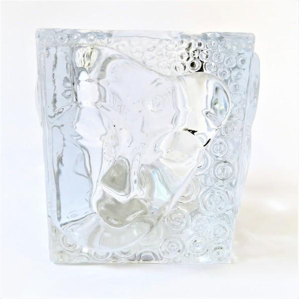 Cor Mulder Teelicht Windlicht Glas Buddha 9 x 8 cm