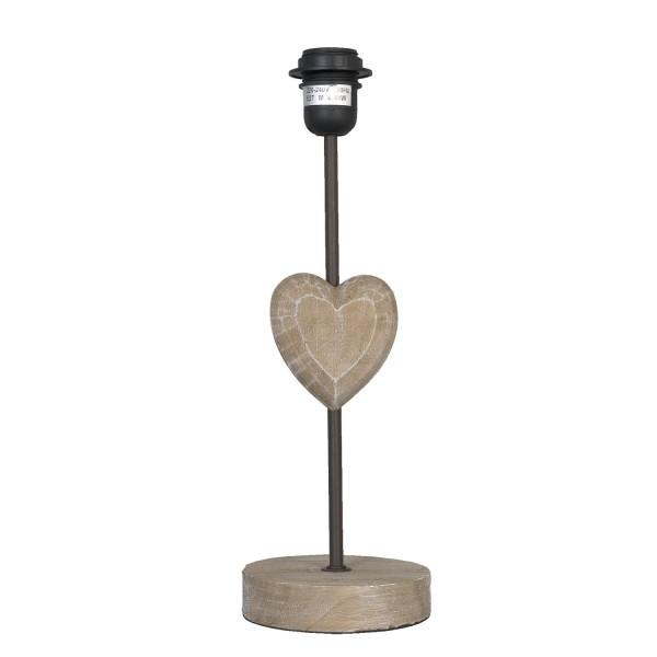 Lampenfuß Lampe Holz Herz 13x39 cm Clayre & Eef 6LMP010 E27 40W