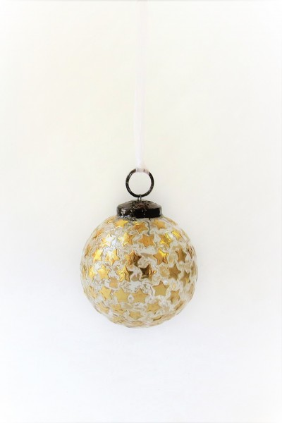 Weihnachtsbaumkugel Christbaumkugel Baumschmuck Weihnachten 4er Set Sterne Gold Colmore 8 cm