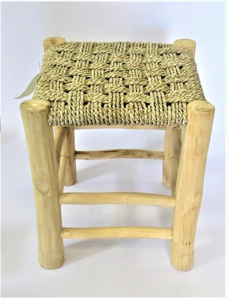 Hocker Stuhl Holz Natur Modern Vierkant 42 cm