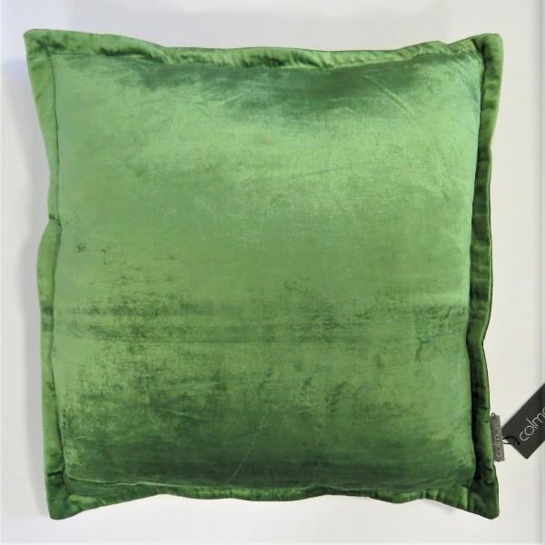 Kissen Deko Zier Sofa Aspen Grün Samt 50 x 50 cm Reißverschluss Colmore 243-18-131