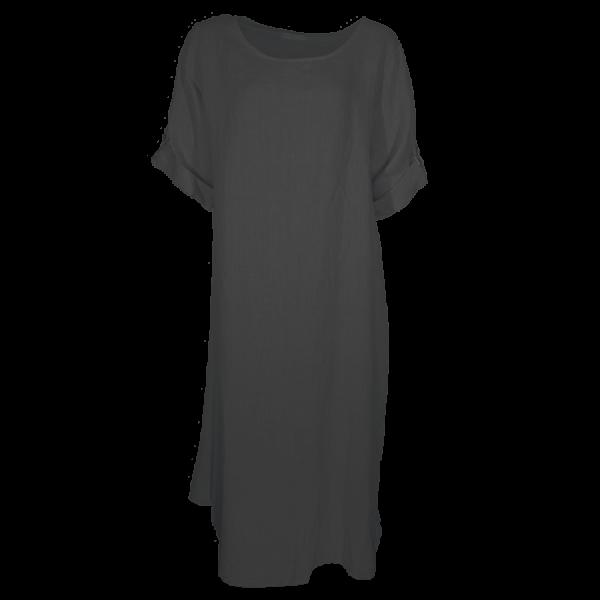 Kleid Tunika Leinen Schwarz Größe XL - XXL
