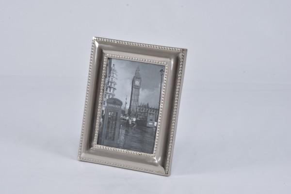 Fotorahmen Standbilderrahmen silber 21 x 16 cm Hazenkamp Metall Nieten